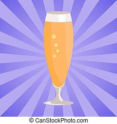 pilsner , απομονωμένος , γυαλί , μπύρα , φόντο , άσπρο