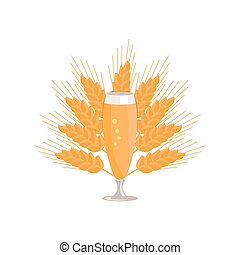 Pilsner Glass of Beer Isolated on White Background - Pilsner...