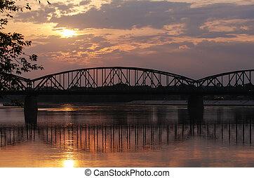 Pilsudski Bridge in Torun, Poland