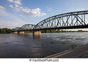 Pilsudskiego Bridge on Vistula River in Torun