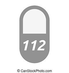 pilule, texte, isolé, 112