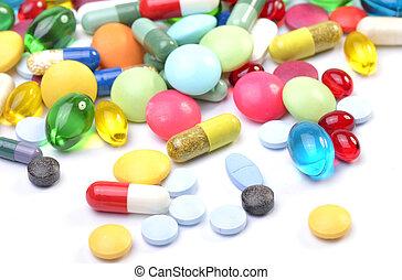 pilules, assorti