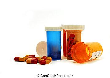 pilules, drogues, blanc