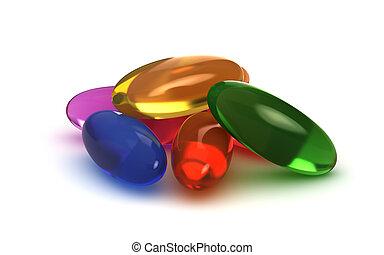 pilules, poignée