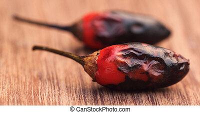 pimentão quente, vermelho