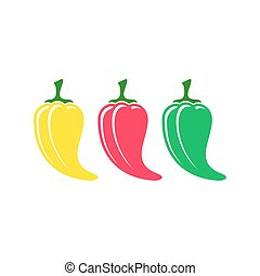 piment rouge, icônes