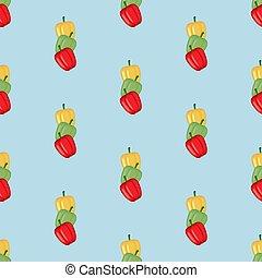 pimenta doce, sino, seamless, padrão