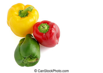 pimentas, diferente, colorido
