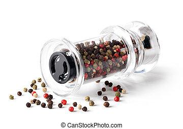 pimentas, mistura, colorido