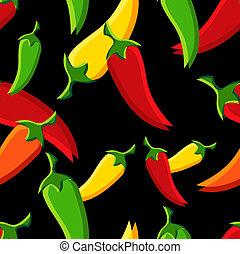 pimentas, pimentões, padrão