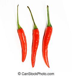 pimienta, chile, rojo caliente
