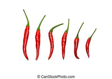 pimientas, chile, selección, rojo