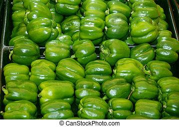 pimientas, verde