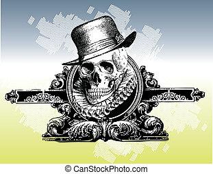 Pimpin skull illustration