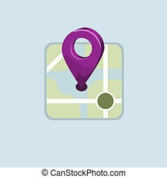 pin., μικροβιοφορέας , διαμέρισμα , σχεδιάζω , χάρτηs , illustration., στερεός