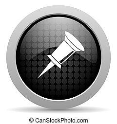pin black circle web glossy icon