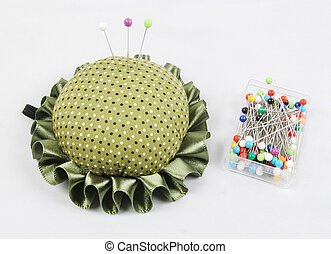 Pin cushion and pins