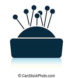 Pin cushion icon. Shadow reflection design. Vector illustration.