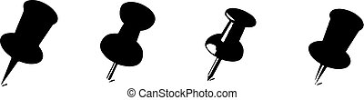 pin icon isolated on white background