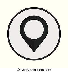 Pin icon location sign icon vector illustration isolated on white background
