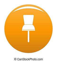 Pin icon orange