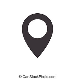 Pin icon vector. Flat design style. Pin sign Isolated on white background.