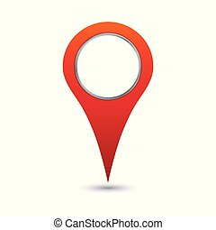 Pin icon vector. Location sign in flat style isolated on white background.