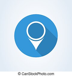 Pin icon vector. Location sign Isolated on white background. Navigation map.