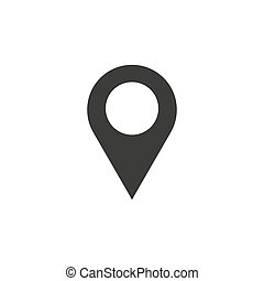 Pin icon vector. Location sign Isolated on white background. Navigation map, gps, direction, place, compass, contact, search concept. Flat style for graphic design, logo, Web, UI, mobile app,
