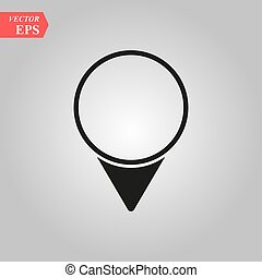 Pin icon vector. Location sign Isolated on white background. Navigation map, gps, direction, place, compass, contact, search concept. Flat style for graphic design, logo, Web, UI, mobile app, EPS 10