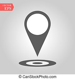 Pin icon vector. Location sign Isolated on white background. Navigation map, gps, direction, place, compass, contact, search concept. Flat style for graphic design, logo, Web, UI mobile app EPS10