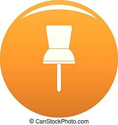 Pin icon vector orange