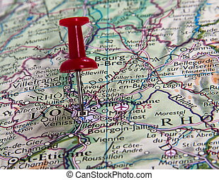 pin in map