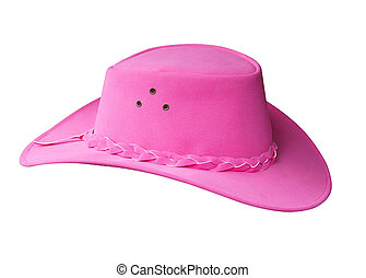 Pin K Suede Cowgirl Hat isolated with clipping path