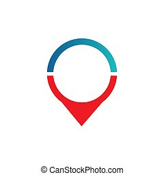 Pin location icon modern for graphic and web design on white background