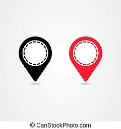 Pin location icon vector design