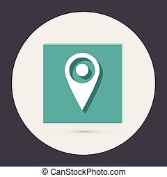 pin location on the map