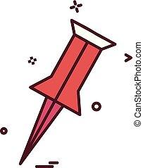 pin locator location icon vector design