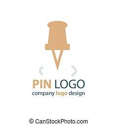 pin logo brown color