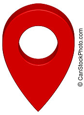 Pin map icon - Pin map marker pointer icon on white...