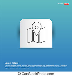 Pin on map icon - Blue Sticker button