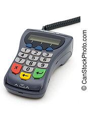 PIN-pad reader of POS-terminal with LCD screen