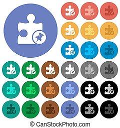 Pin plugin round flat multi colored icons