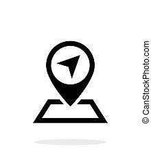 Pin Pointer icon on white background.