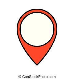 pin pointer location icon