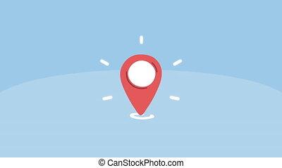 pin pointer location marker animation