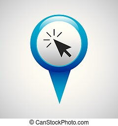 pin pointer location with business icon