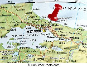 pin set on Istanbul