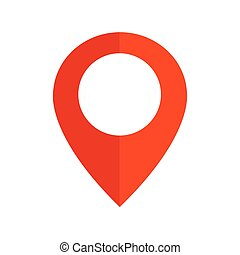 Pin sign Location icon