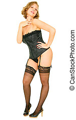 Pin Up Model - pin up girl with very classic pin up pose....
